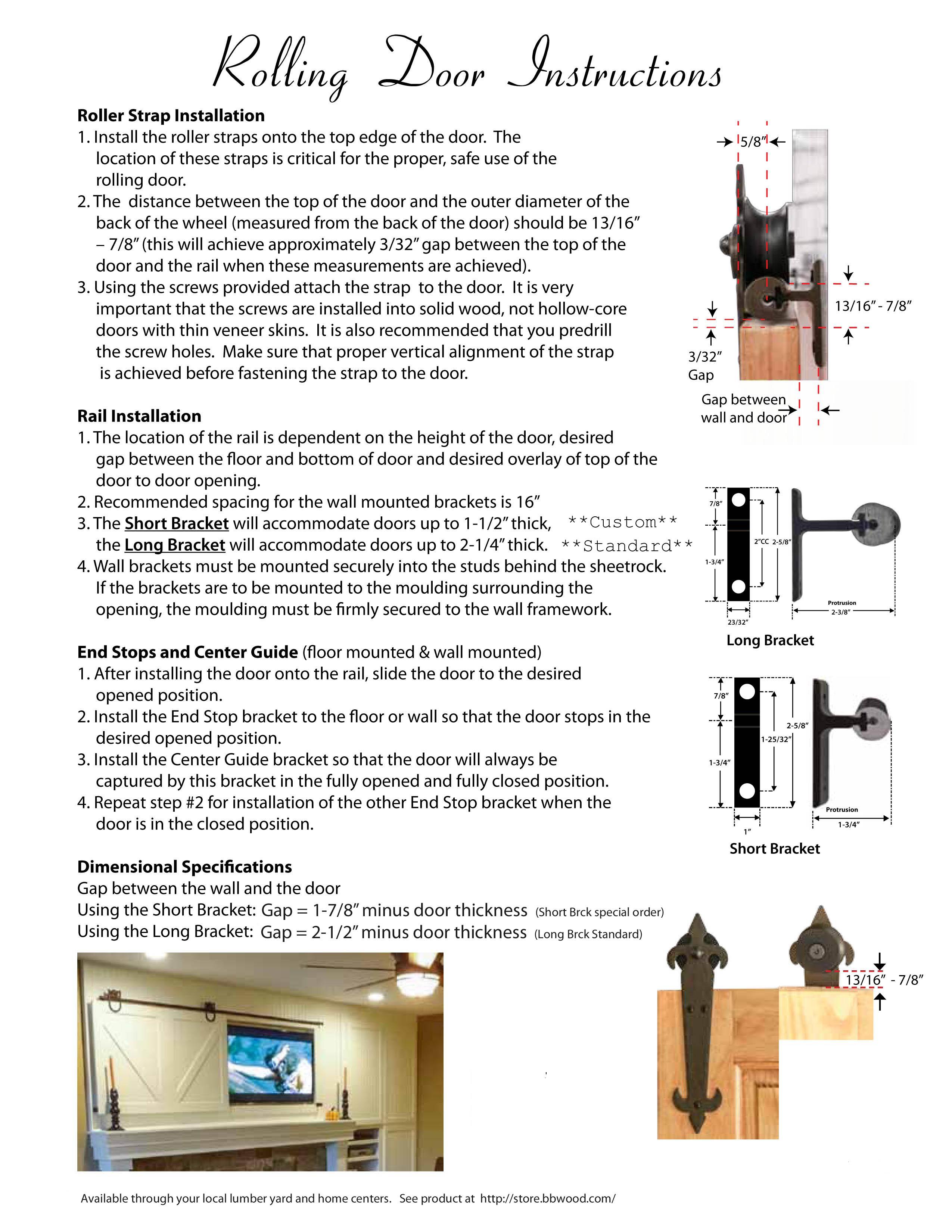 barn door hardware installation instructions