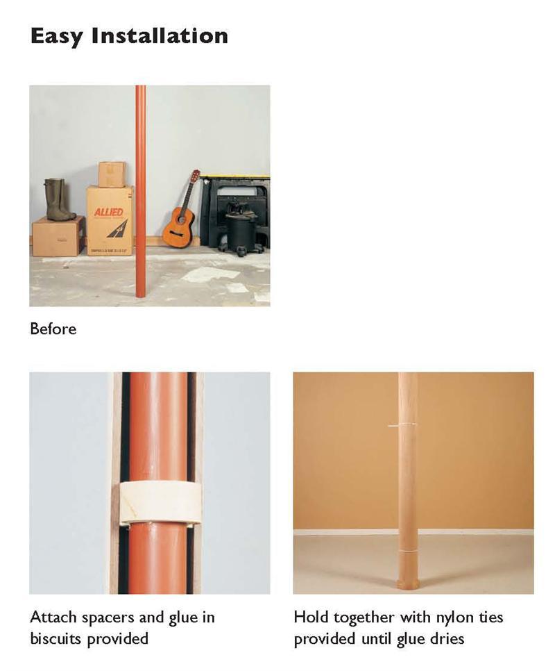 Wood Lally Basement Pole Covers