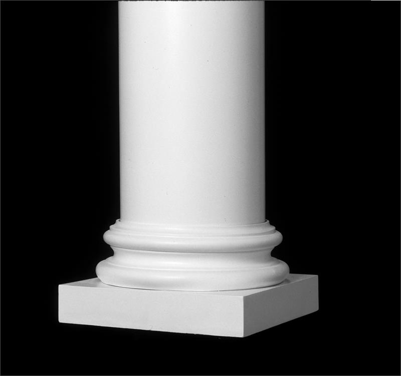 Fiberglass Column Caps : Attic base for round permacast columns