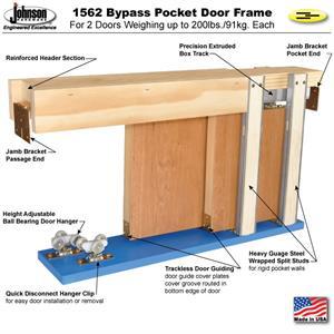 Attirant Pocket Door Frame 1562 Kit: BYPASS